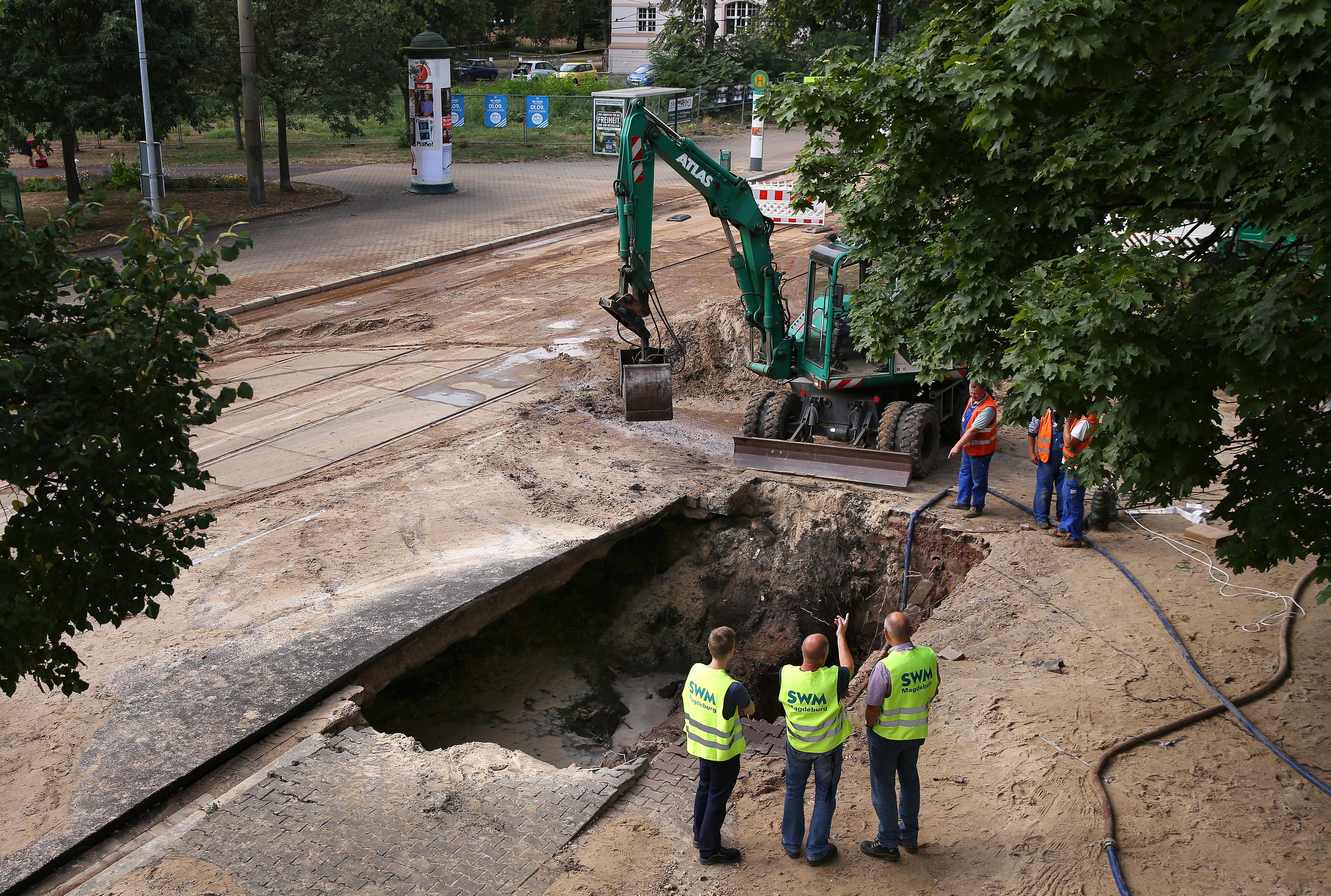 Wasserrohrbruch Magdeburg