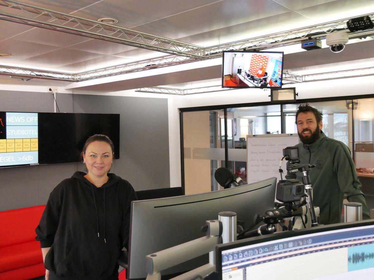 SCM-Trainer Bennet Wiegert im radio SAW-Studio
