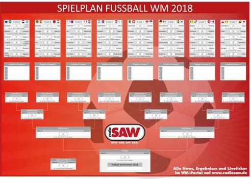 Der radio SAW Spielplan