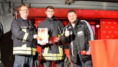Warren Green mit der Feuerwehr Weferlingen auf der Showbühne