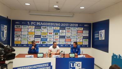 Pressekonferenz des 1. FC Magdeburg vor dem 34. Spieltag
