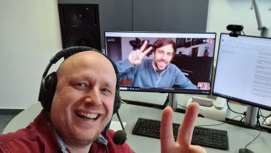 Ingolf Kloss beim Video-Call mit Max Giesinger