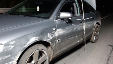 Unfallauto bei Wittenberge