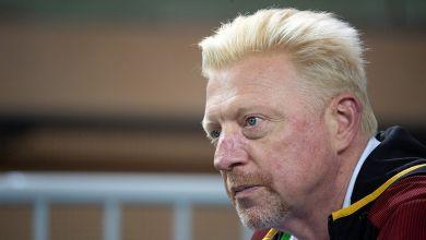 Boris Becker verfolgt die Auslosung für die Spiele gegen Weißrussland