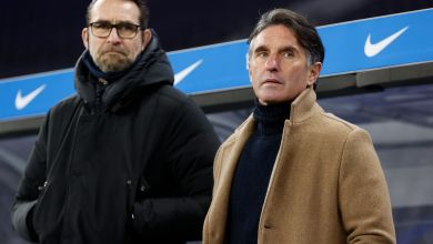 Trainer Bruno Labbadia und Manager Michael Preetz