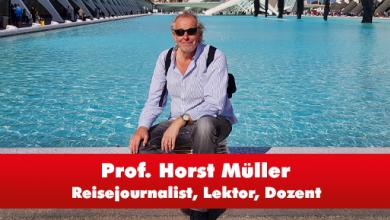 Klaus Müller auf einem Kreuzfahrtschiff