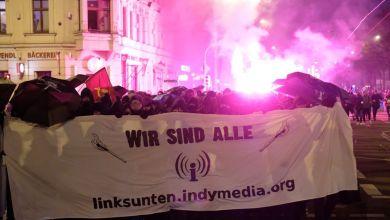 Mehrere hundert Menschen protestieren in Leipzig gegen das Verbot der Plattform «Linksunten.Indymedia»