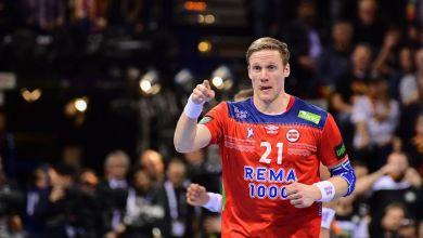 Gullerud bei der Handball-WM in Hamburg im Spiel Deutschland gegen Norwegen