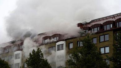 Explosion und Brand in Göteborg