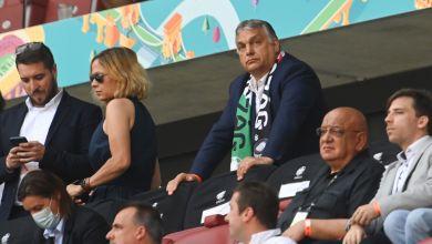 Ungarns Ministerpräsident Viktor Orban beim Spiel Ungarn-Frankreich