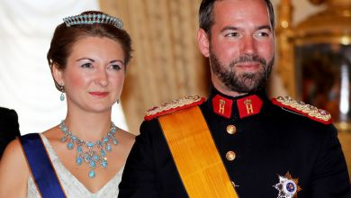 Erbgroßherzog Guillaume und Ehefrau Erbgroßherzogin Stéphanie