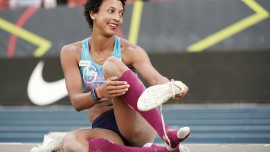 Malaika Mihambo bei den Deutschen Meisterschaften in Braunschweig