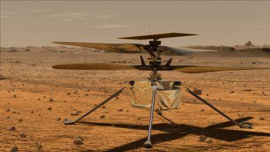Illustration: Mini-Hubschrauber «Ingenuity» auf der Marsoberfläche.