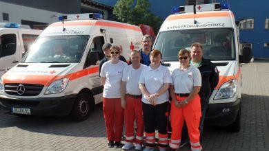 Rettungswagen und Krankentransportwagen vom DRK