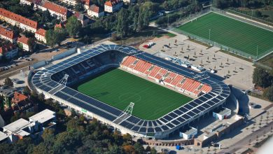 Halle Luftbild HFC-Stadion
