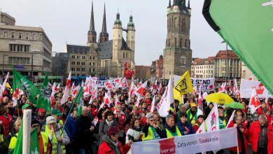 Streik in Halle