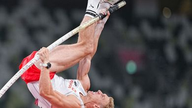 Stabhochspringer Piotr Lisek - hier bei den Olympischen Spielen in Tokio