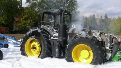 Traktor in Biendorf abgebrannt