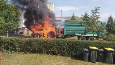 Traktor-Brand in Seehausen