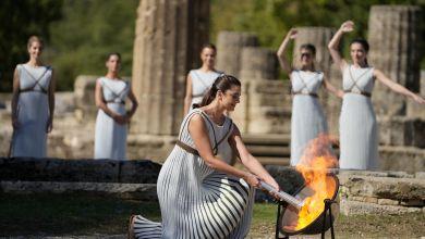 Olympischen Winterspielen - Flamme in Griechenland