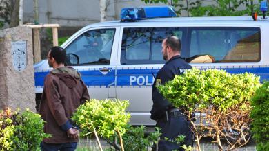Polizei bei einem Einsatz