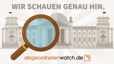 Motivplakat abgeordnetenwatch.de