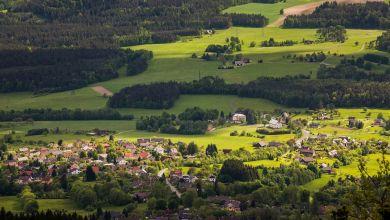 Beispielbild: Dorf in Böhmen/Tschechien