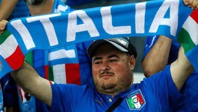 Italienischer Fußballfan
