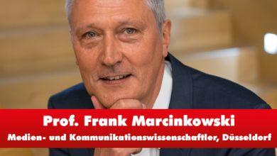 Medien- und Kommunikationswissenschaftler Prof. Dr. Frank Marcinkowski