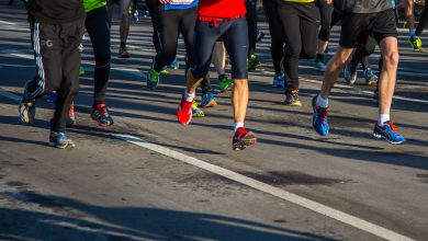Läufer bei einem Wettbewerb
