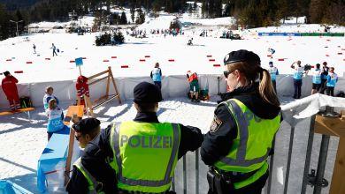 Polizei bei Ski-WM