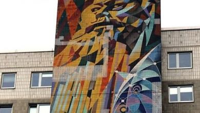 Wandbild in Halle