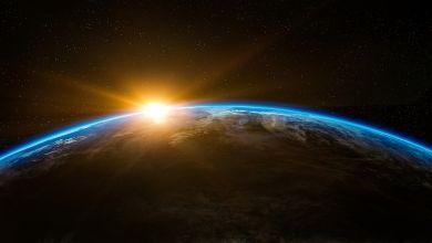 Erde aus dem Weltraum betrachtet