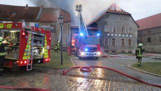 Brand in Wegeleben