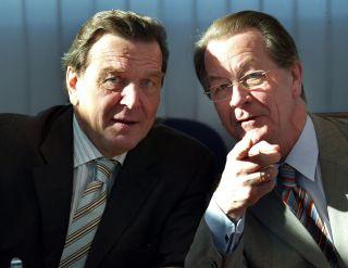 Gerhard Schröder und Franz Müntefering