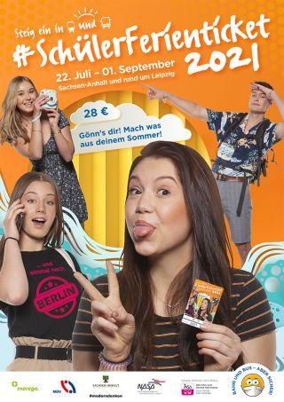 Plakatmotiv Schülerferienticket 2021