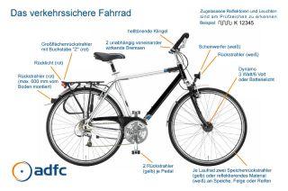 Verkehrssicheres Fahrrad