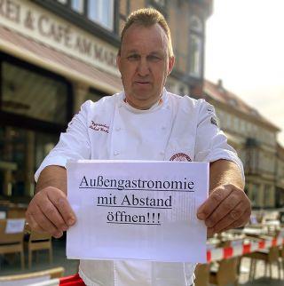 Aktion der Gastronomen in Wernigerode