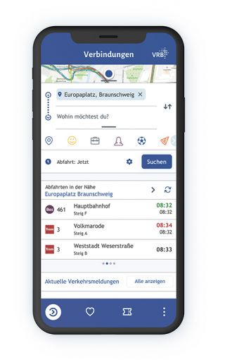APP des Verkehrsverbundes Braunschweig