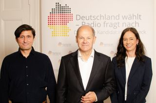 Jörg Ratzsch, Olaf Scholz (SPD), Grit Leithäuser