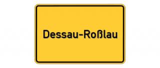 Ortsschild Dessau-Roßlau