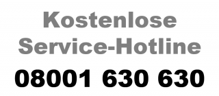 Service-Hotline: 08001 630 630