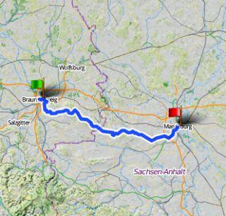 Steckenverlauf Cycle-Tour 2917