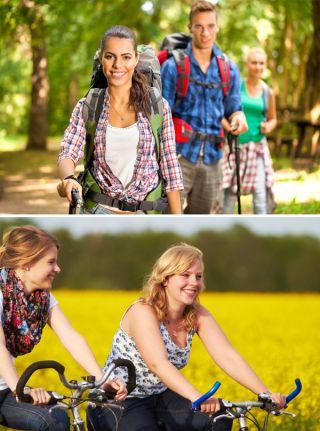 Wandern, Rad fahren