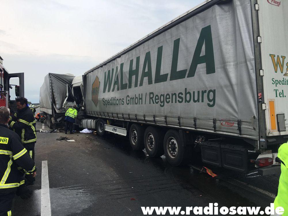 Fotos Lkw Unfall Auf Der A14 Radio Saw