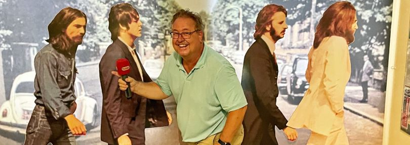 Torsten Rößler im Beatles-Museum Halle