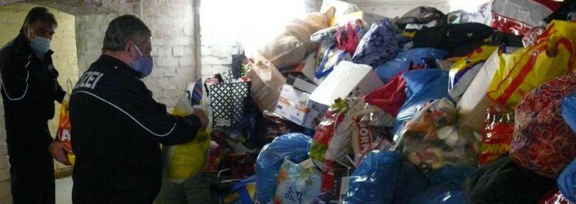 Polizei steht vor 20 Tonnen Diebesgut