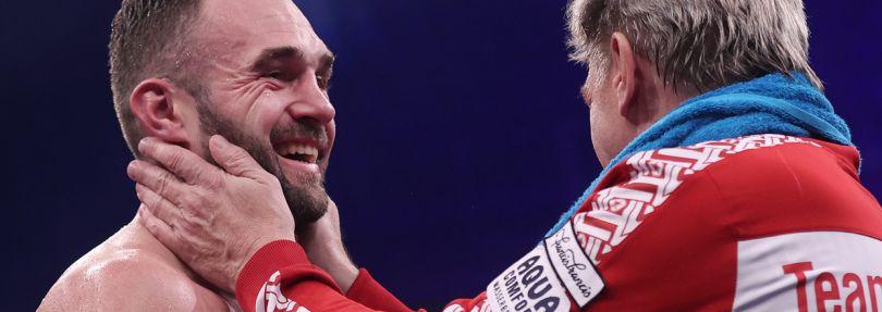 Dominic Bösel mit seinem Trainer Georg Bramowski