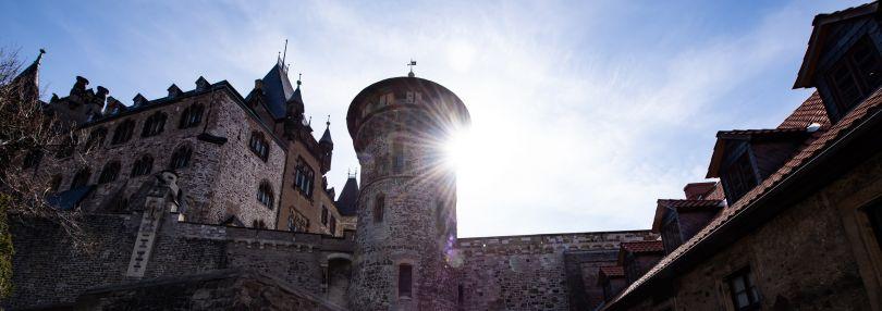 Haupteingang am Schloss Wernigerode