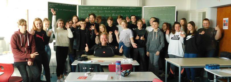 Ted Stanetzky besucht die Sekundarschule Roitzsch